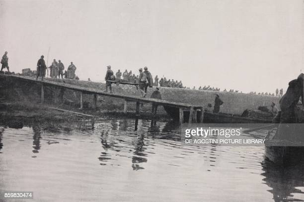 Ferry for the transport of the wounded Italy World War I from l'Illustrazione Italiana Year XLV No 1 January 6 1918