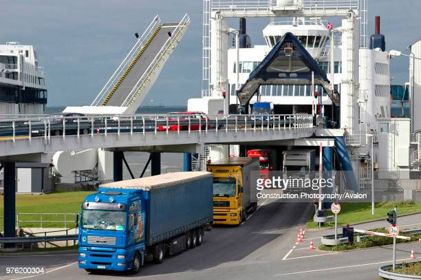Ferry freight terminal Fehmarnm Puttgarden Germany