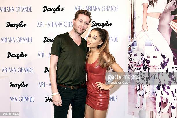 Ferry Hansen Beauty Director for Men's Health/Women's Health in Germany and Ariana Grande attend the Exclusive Meet Greet With Ariana Grande At...