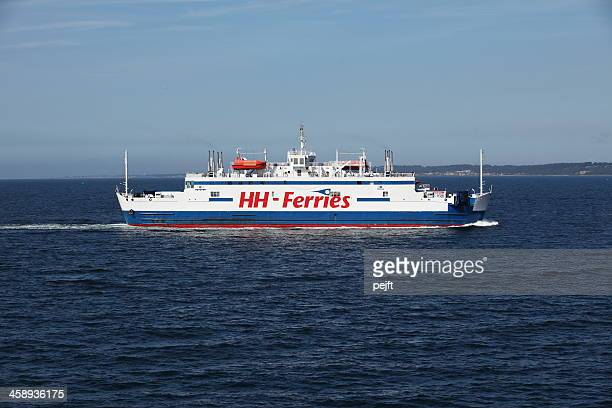 ferry hh ferries between denmark and sweden - pejft stock pictures, royalty-free photos & images
