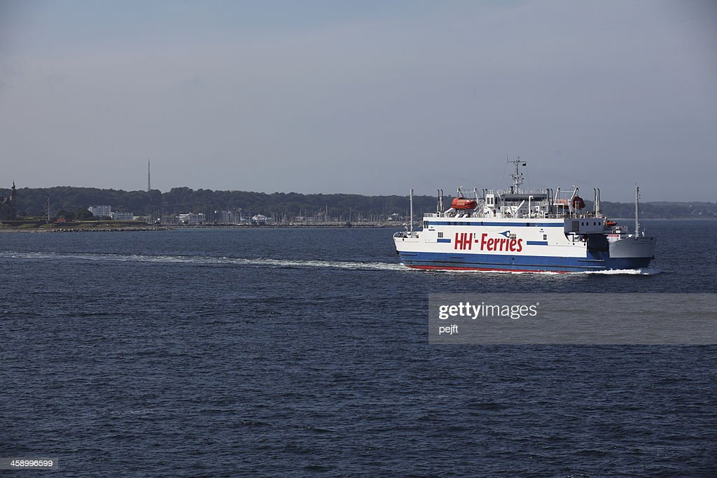 Ferry HH Ferries between Denmark and Sweden : Stock Photo