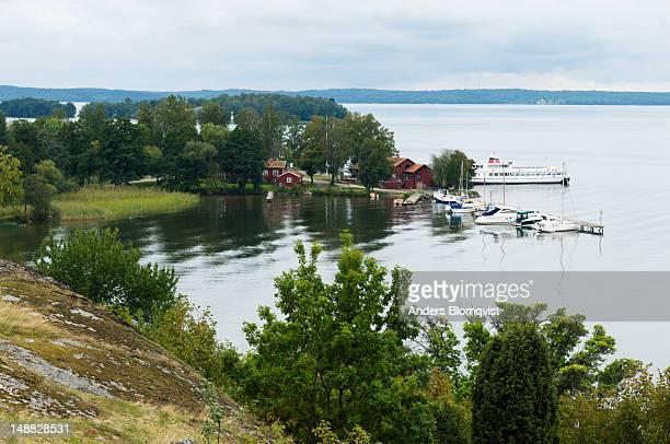 Ferry landing on Malaren Lake, Bjorko.