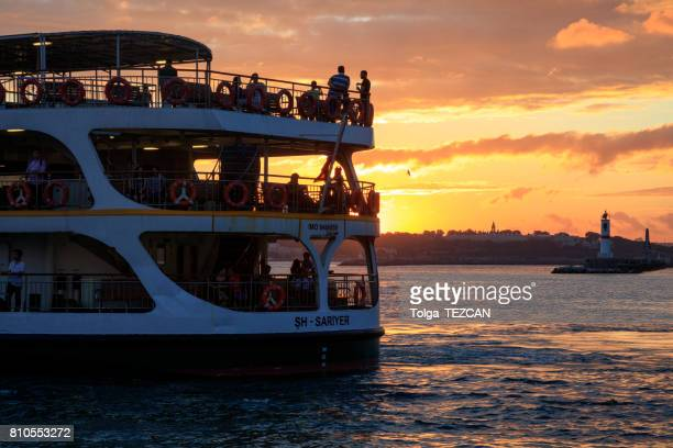 ferry of istanbul - kadikoy stock photos and pictures