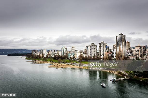 ferry of sunset beach.jpg - english bay stock photos and pictures