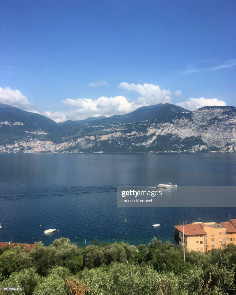 Ferry on Lake Garda, Italy : Stock-Foto