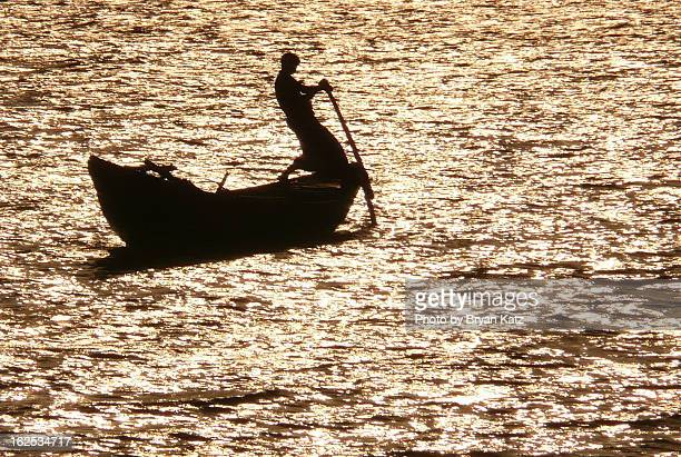 ferry on the pusur river - khulna stock photos and pictures