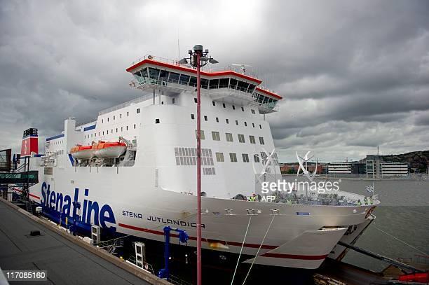 Ferry operator Stena Line's ferry Stena Jutlandica sailing on the route between Frederikshavn in Denmark and Gothenburg in Sweden is docked in...