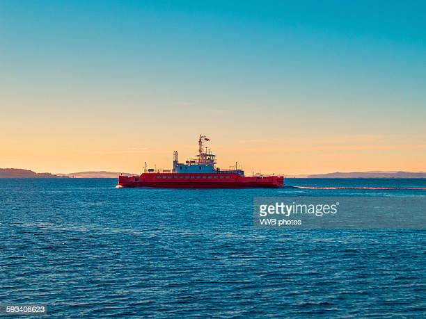 ferry over the firth of the clyde, scotland - ferry stock photos and pictures