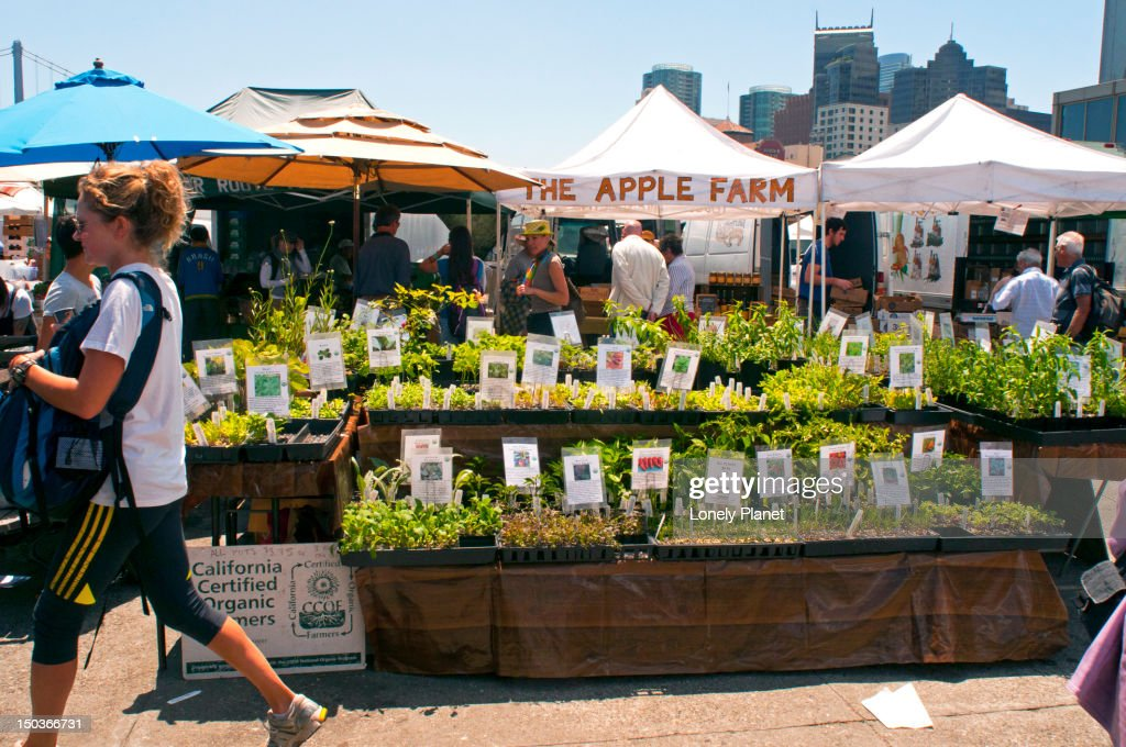 Ferry Plaza Farmers Market. : Stock Photo