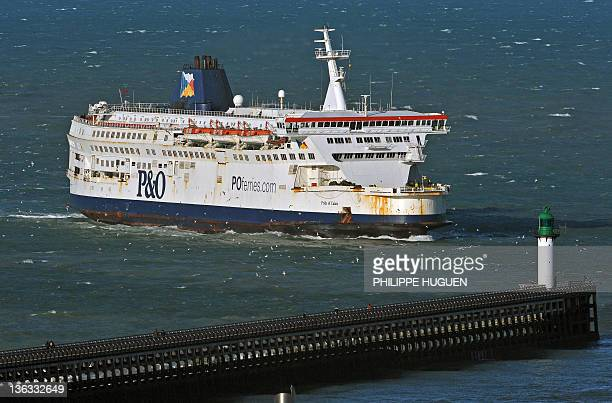 PO ferry Pride of Calais arrives at the Calais' harbour northern France on January 2 2012 Acquired by Ports Customs and Free Zone Corporation of...