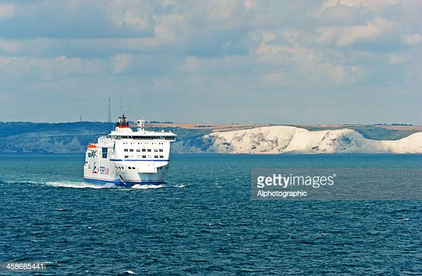 ferry sailing from dover - sea channel stock photos and pictures