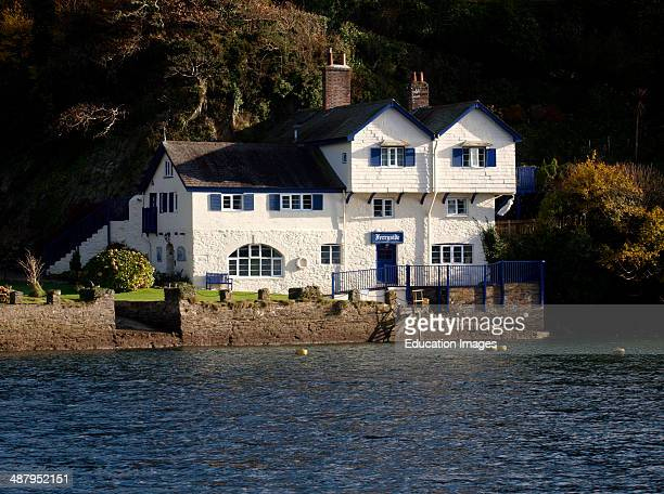 Ferry side house Bodinnick Daphne du Maurier family home on the River Fowey Cornwall UK