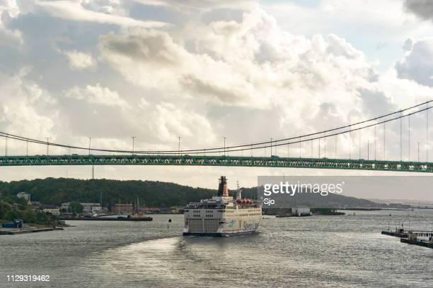 Ferry Stena Danica leaving the port of Gothenburg for Frederikshavn in Denmark