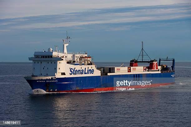 ferry stena scanrail (stena line), near goteborg. - västra götaland county stock pictures, royalty-free photos & images