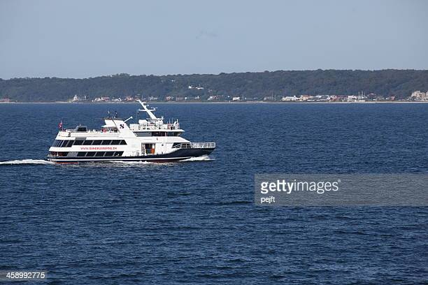 ferry sundbusserne between denmark and sweden - pejft stock pictures, royalty-free photos & images