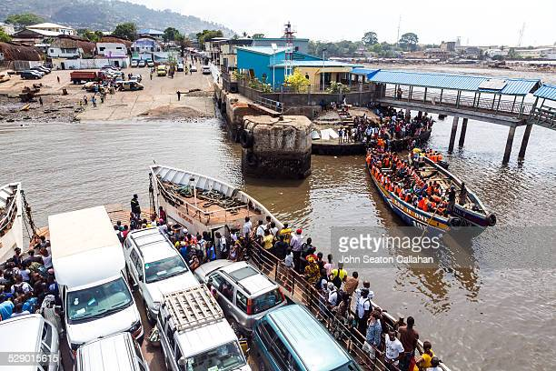 ferry to freetown - freetown sierra leone stock pictures, royalty-free photos & images
