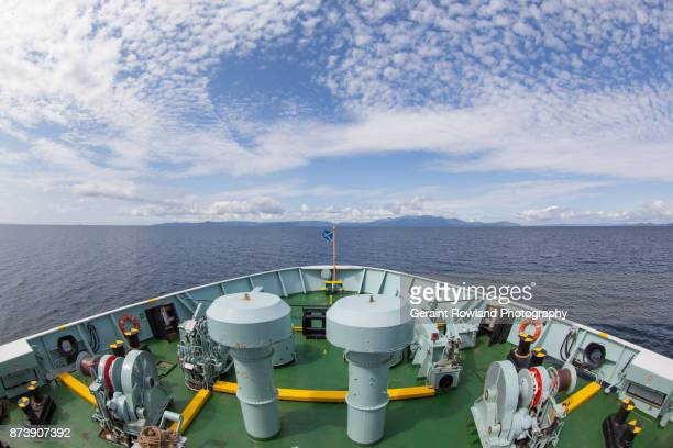 ferry to isle of arran, scotland - ferry stock photos and pictures
