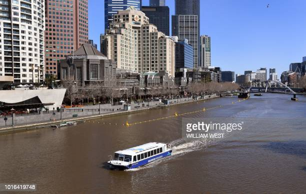 A ferry transports tourist down Melbourne's Yarra River on August 14 2018 Austria's capital Vienna has beaten Melbourne to be ranked the world's most...