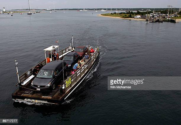 A ferry travels between Edgartown and Chappaquiddick August 6 2009 in Edgartown Massachusetts on the island of Martha's Vineyard President Barack...