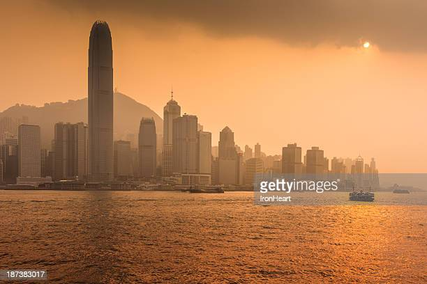 ferry with hong kong - star ferry stock pictures, royalty-free photos & images