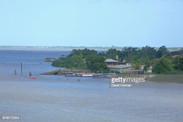 Ferryboat station at Paramaribo for crossing River Suriname.