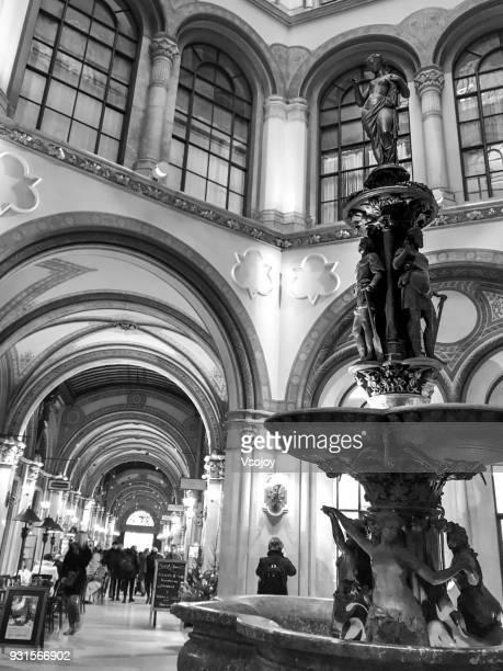 ferstel passage (freyung passage) at vienna, austria - vsojoy stockfoto's en -beelden