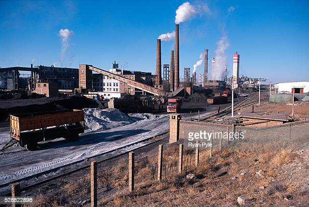 Fertilizer factory in Qianqi, Inner Mongolia, China. Baotou is an excellent example of a one-industry town, and that industry is steel. Baotou is...