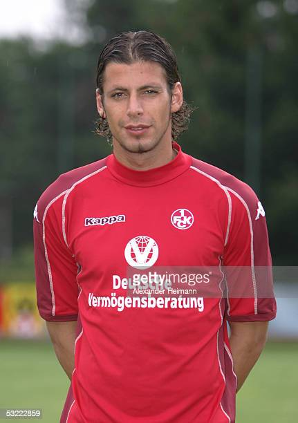 Ferydoon Zandi looks in the camera during the team presentation of 1FC Kaiserslautern for the Bundesliga season 2005 2006 on July 10 2005 in...