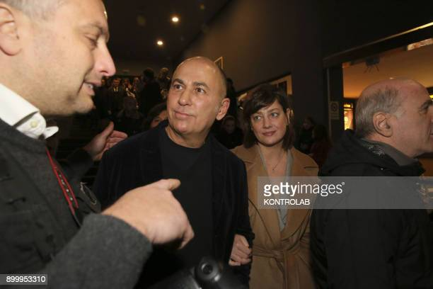 Ferzan Ozpetek and Anna Bonaiuto at the premier of 'Napoli Velata' directed by Ferzan Ozpetek main actors Giovanna Mezzogiorno and Alessandro Borghi...