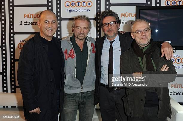 Ferzan Ozpetek Giovanni Veronesi Sergio Castellitto and Daniele Luchetti attend the Casting Awards Ceremony during the 8th Rome Film Festival at the...