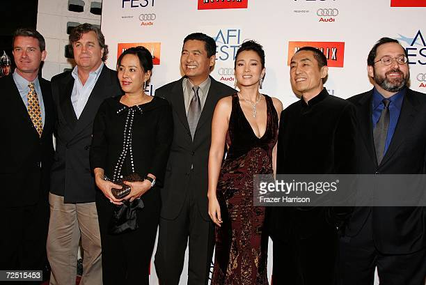 AFI Fest director Christian Gaines Sony Pictures Classic CoPresident Tom Bernard Jasmine Chow husband actor Chow Yun Fat actress Gong Li Director...