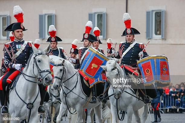 Festa del Tricolore is the officially national day in which the armed forces celebrate the Italian flag Reggimento Corazzieri and Fanfara of the...