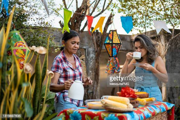 festa junina, typical foods - tradition stock pictures, royalty-free photos & images