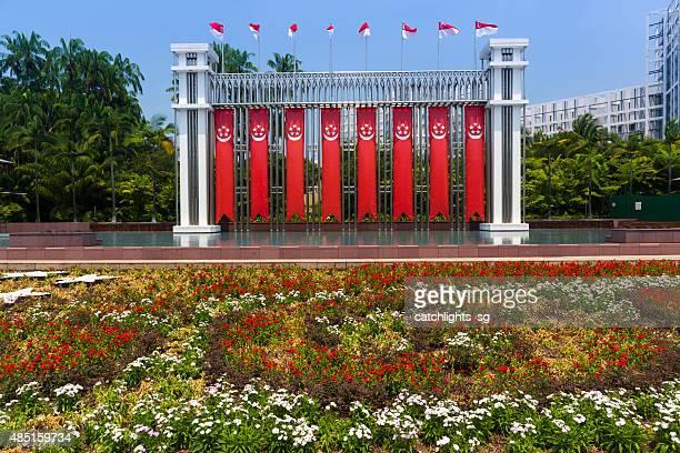 festival arco de istana park, singapur - orchard road fotografías e imágenes de stock