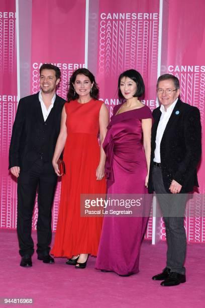 Festival artistic directorAlbin Lewi Festival Patron Sidse Babett KnudsenFestival President Fleur Pellerin and Festival director Benoit Louvet attend...
