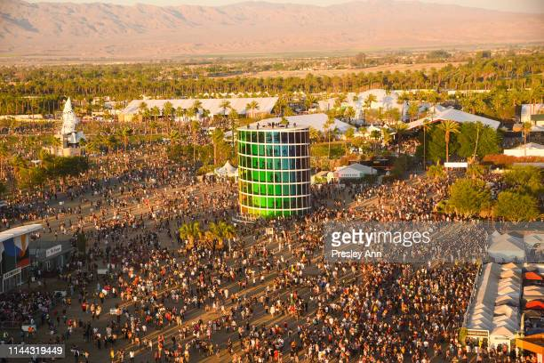 Festival atmosphere at the 2019 Coachella Valley Music And Arts Festival - Weekend 2 on April 21, 2019 in Indio, California.