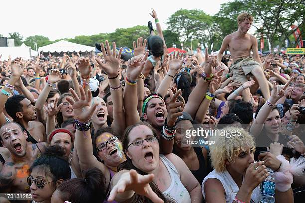 Festival atmosphere during Warped Tour 2013 at PNC Bank Arts Center on July 7 2013 in Holmdel New Jersey