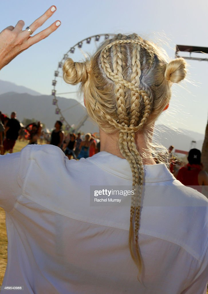 Festival attendee during the 2015 Coachella Valley Music and Arts Festival - Weekend 1 at The Empire Polo Club on April 12, 2015 in Indio, California.