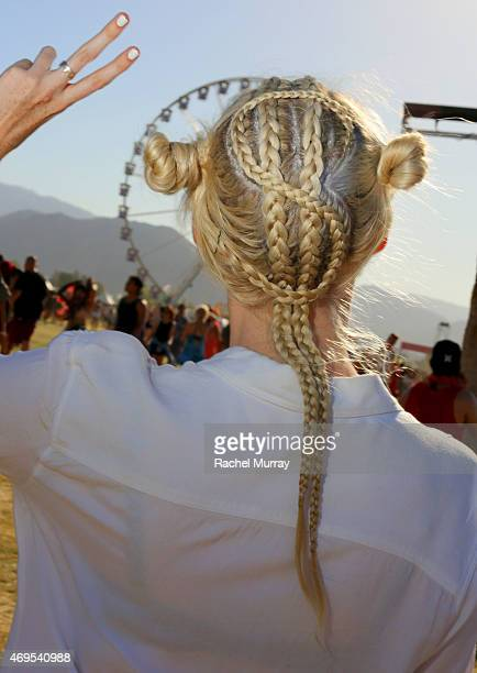 Festival attendee during the 2015 Coachella Valley Music and Arts Festival Weekend 1 at The Empire Polo Club on April 12 2015 in Indio California