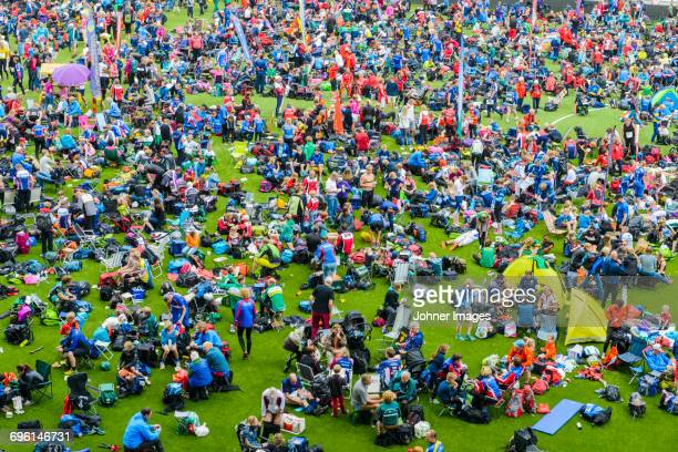 festival crowd - borås stock pictures, royalty-free photos & images