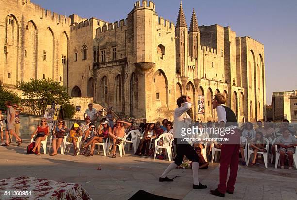 Festival d'Avignon Performance on Place du Palais