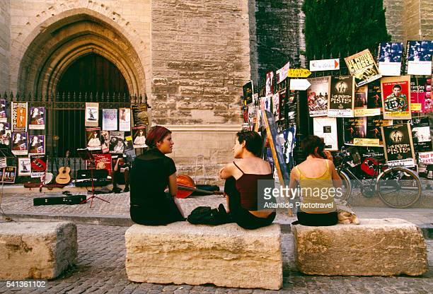 Festival d'Avignon Posters Outside Palais des Papes