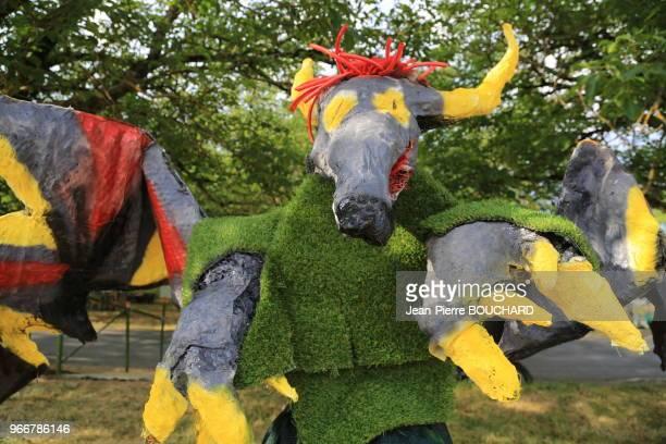 Festival des épouvantails de Meyrals en Périgord Noir Dordogne le 30 juillet 2016 France