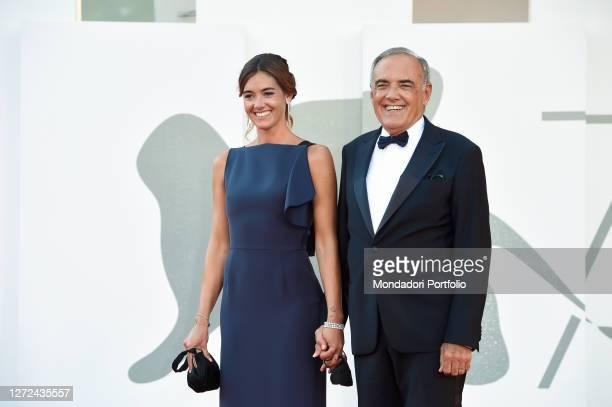 Festival director Alberto Barbera and his wife Giulia Rosmarini at the 77 Venice International Film Festival 2020 Closing ceremony red carpet Venice...