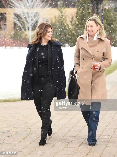 Festival Director Candice Pate and actress Jeanne Tripplehorn attend the 2018 Sun Valley Film Festival - Coffee Talk with Jeanne Tripplehorn on March...