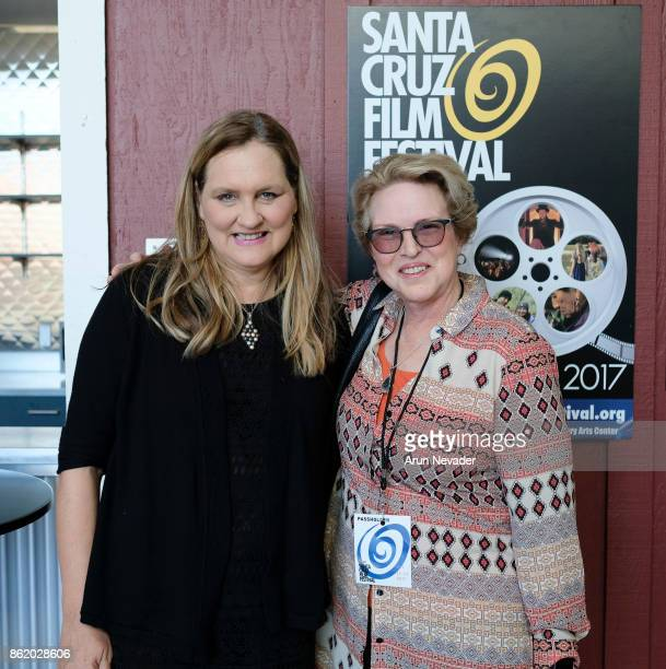 Festival Director Catherine Segurson and Dean Susan Solt of UCSC attend the Santa Cruz Film Festival at Tannery Arts Center on October 15 2017 in...