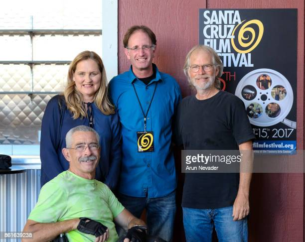 Festival Director Catherine Segurson appears with documentary subject Bob Coomber director Tal Skloot and composer Barry Phillips before the...