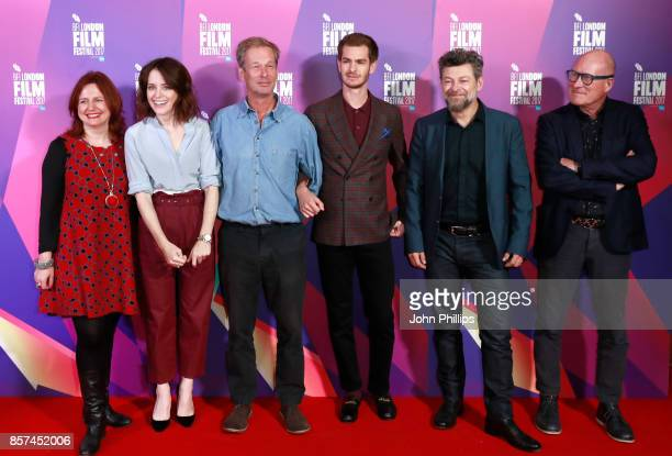 Festival director Clare Stewart actor Claire Foy producer Jonathan Cavendish actor Andrew Garfield director Andy Serkis and screenwriter William...