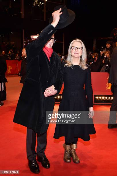 Festival director Dieter Kosslick and director and screenwriter Sally Potter attend the 'The Party' premiere during the 67th Berlinale International...