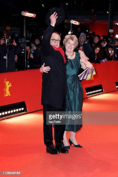 Festival director Dieter Kosslick and Federal Commissioner for Culture and Media Monika Gruetters attend the The Kindness Of Strangers premiere...